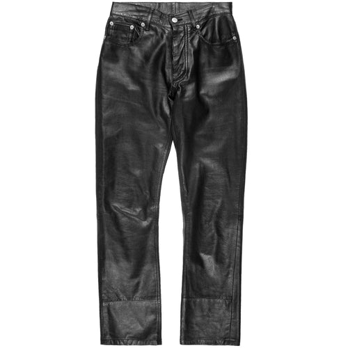 Helmut Lang Women's Calf Leather Jeans - AW98