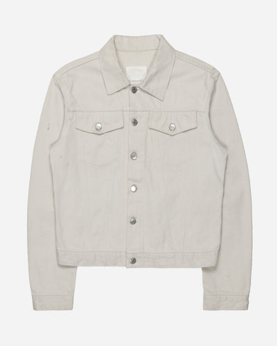 Helmut Lang Natural White Denim Trucker Jacket
