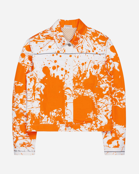 Hermès Cheval Surprise Paint Splatter Trucker Jacket - SS03