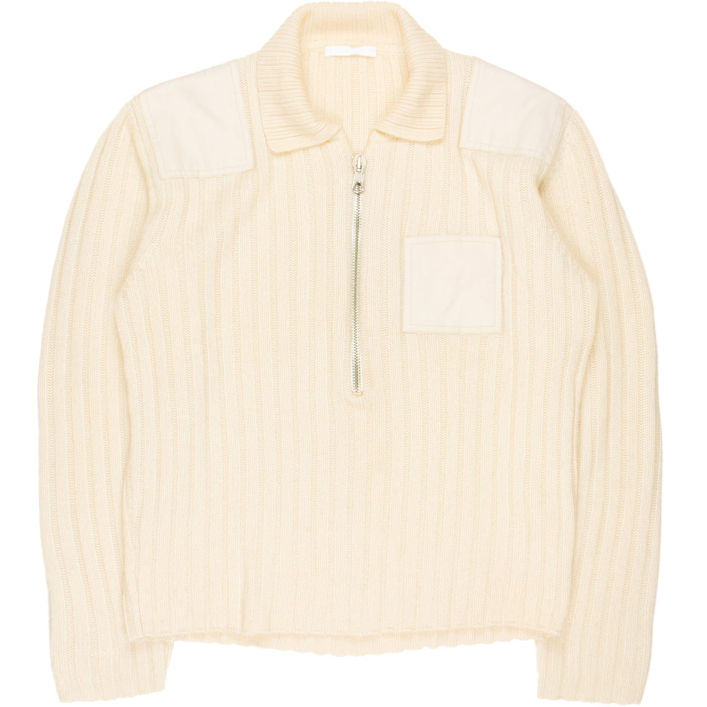 Helmut Lang Patched Knitted Sweater - AW98