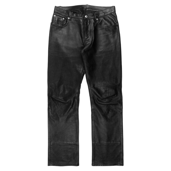 Helmut Lang Calf Leather Jeans - AW98