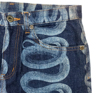 Hysteric Glamour Blue Snake Jeans