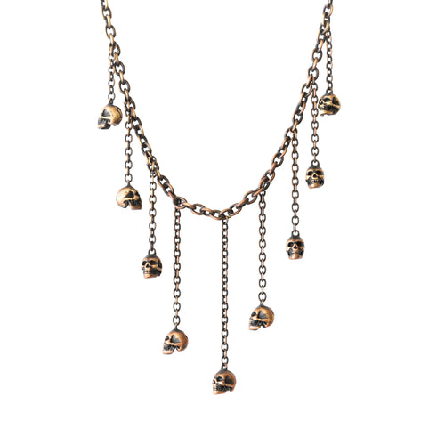 Number (N)ine Beaded Skull Necklace - SS06