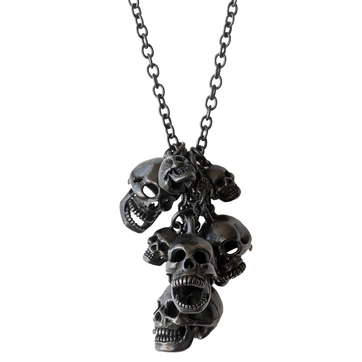 Number (N)ine Multi Skull Necklace - SS06
