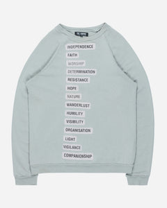 "Raf Simons Mint Independence Patched Sweatshirt - SS02 ""Woe on those who…"""