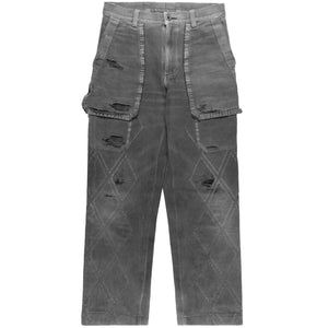 Issey Miyake Carbon Grey Distressed Trousers