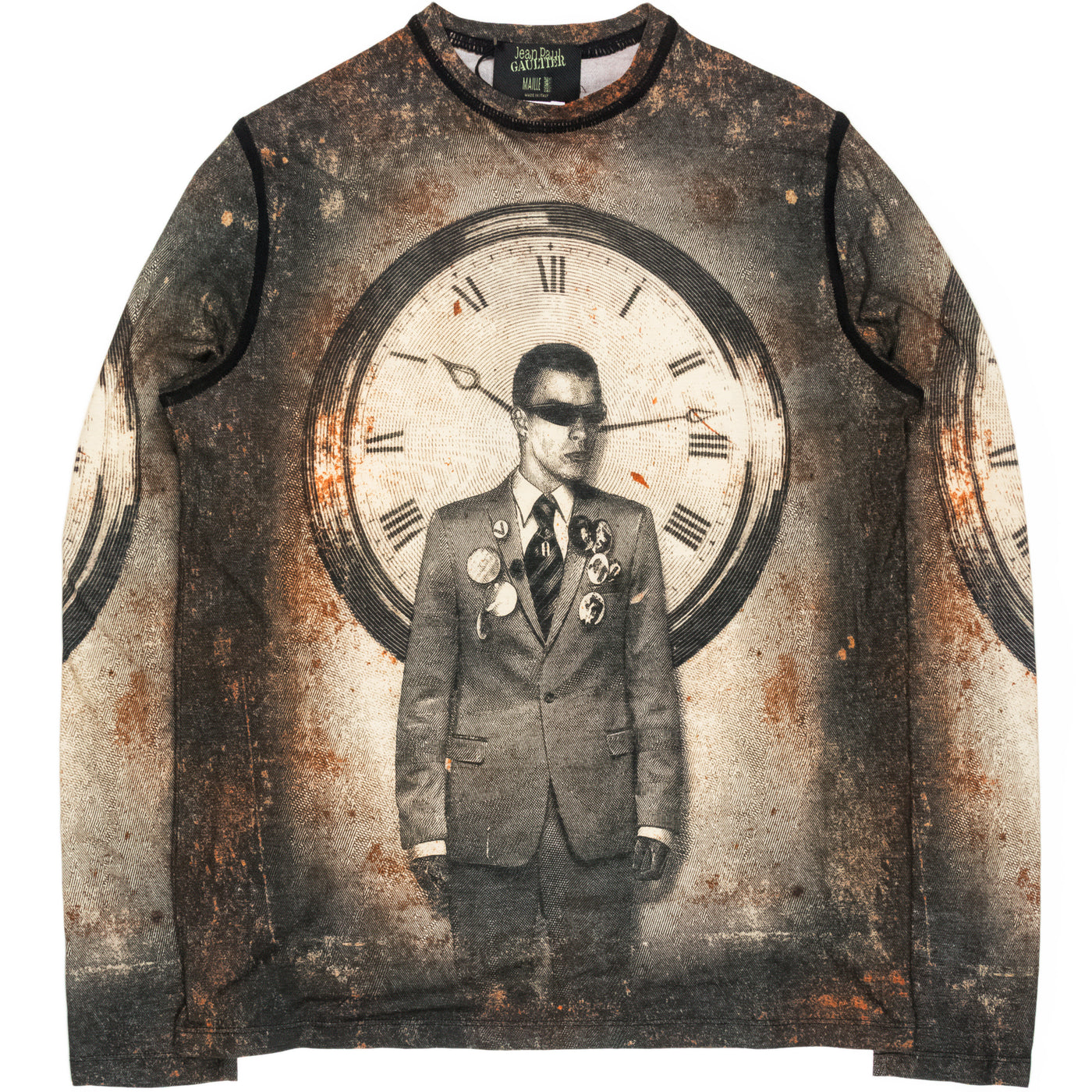 "Jean Paul Gaultier Maille Homme ""Clock"" Top - AW03"