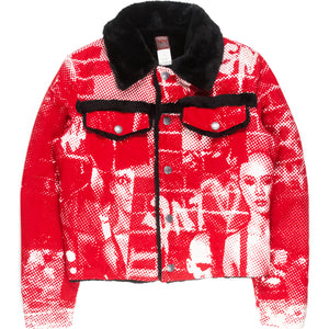 "Jean Paul Gaultier ""Fight Racism"" Shearling Trucker Jacket - AW97"