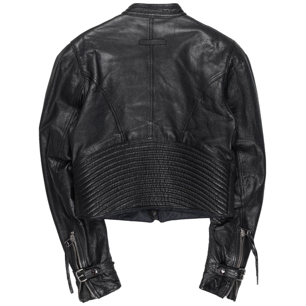 Jean Paul Gaultier Pleated Leather MC Moto Jacket