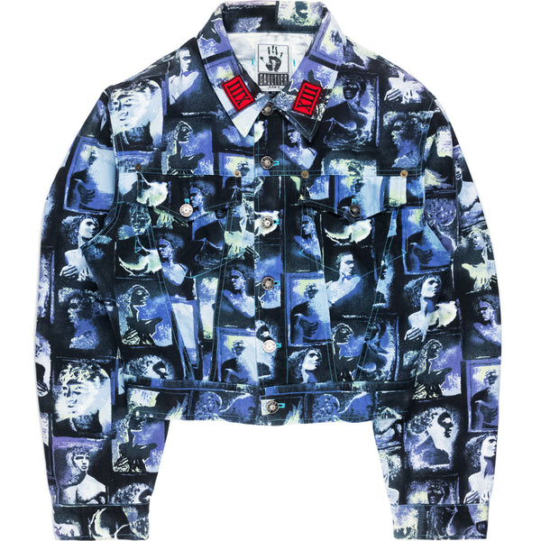 Jean Paul Gaultier Roman Portrait Trucker Jacket - AW92