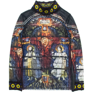Jean Paul Gaultier Cathedral Mockneck Tattoo Top