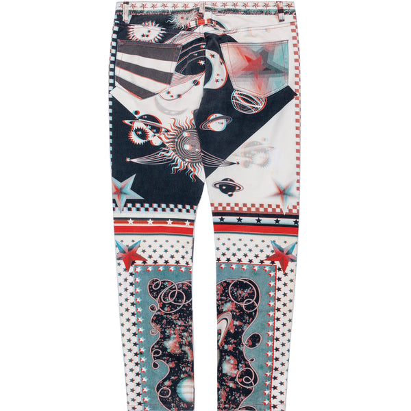 Jean Paul Gaultier Psychedelic 3-D Graphic Printed Denim