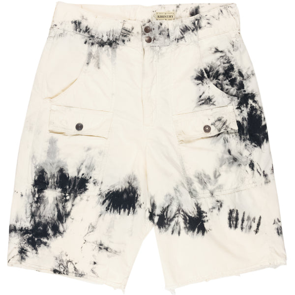 Kapital Kountry Cream Ashbury Dyed Cargo Shorts