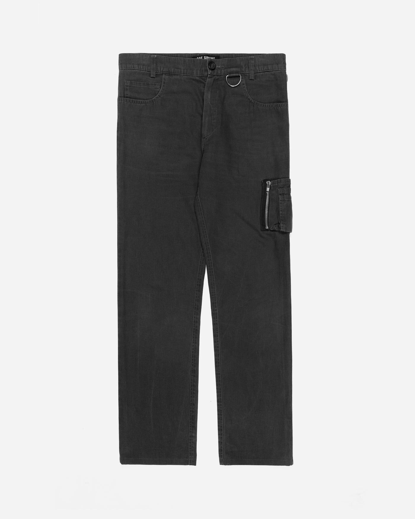 "Raf Simons Charcoal Grey Cargo Pocket Pants - SS02 ""May The Circle Be Unbroken"""