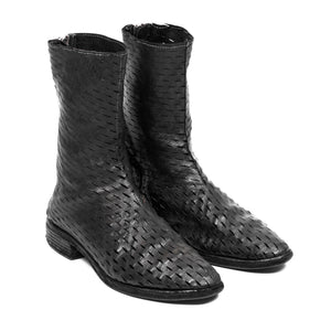 Carol Christian Poell Laser Cut Spiral Zip Boot / AM2601 ROOMS PTC/10