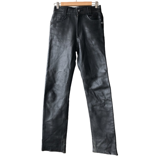 Black Leather Rider's Trouser