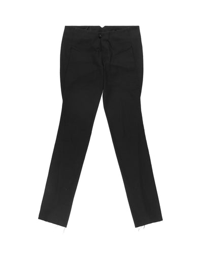 M.a+ Cotton Canvas Bias-Cut Trousers