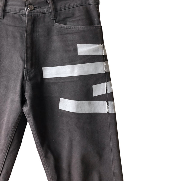 N. Hoolywood Grey Screenprint Denim - SS12