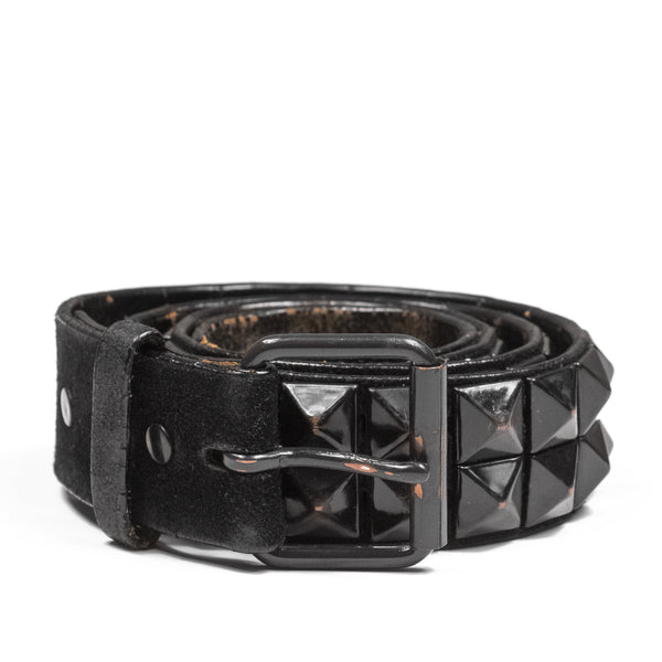 "Number (N)ine Black Studded Belt - AW04 ""Dream Baby Dream"""