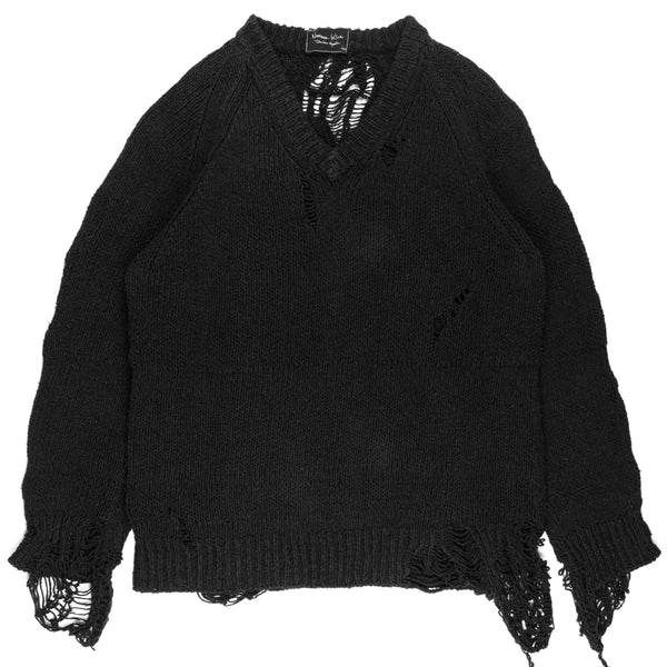 "Number (N)ine Destroyed Sweater - SS/AW03 ""Touch Me I'm Sick"""