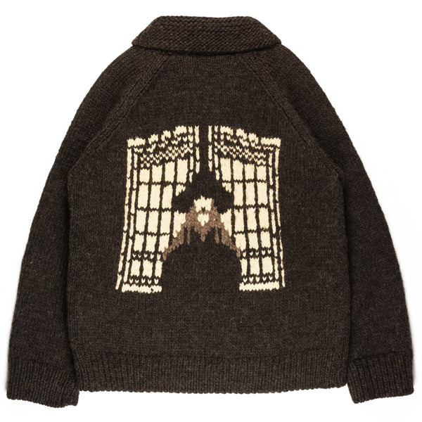 "Number (N)ine Cowichan Cardigan - AW02 ""Nowhere Man"""