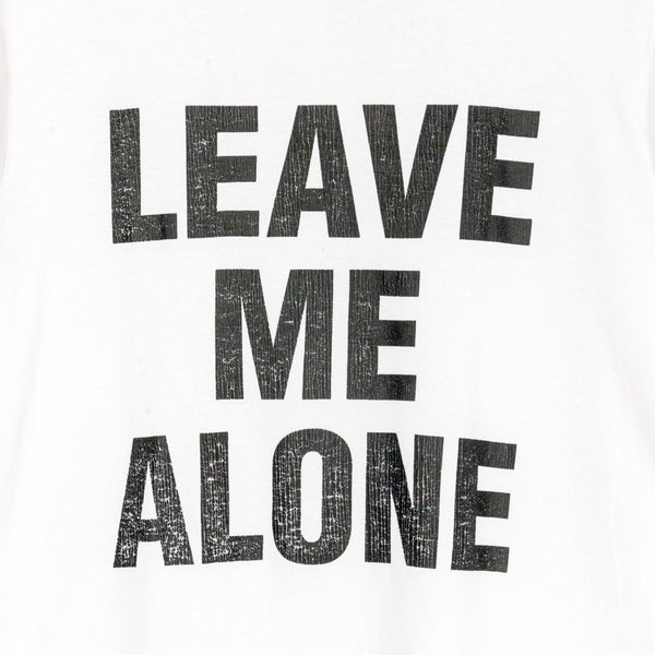 "Number (N)ine ""LEAVE ME ALONE"" Tee - SS06 ""Welcome to the Shadow"""