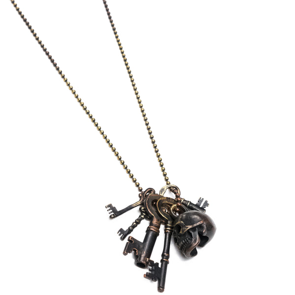 "Number (N)ine Skull and 5 Keys Necklace - SS06 ""Welcome to the Shadow"""