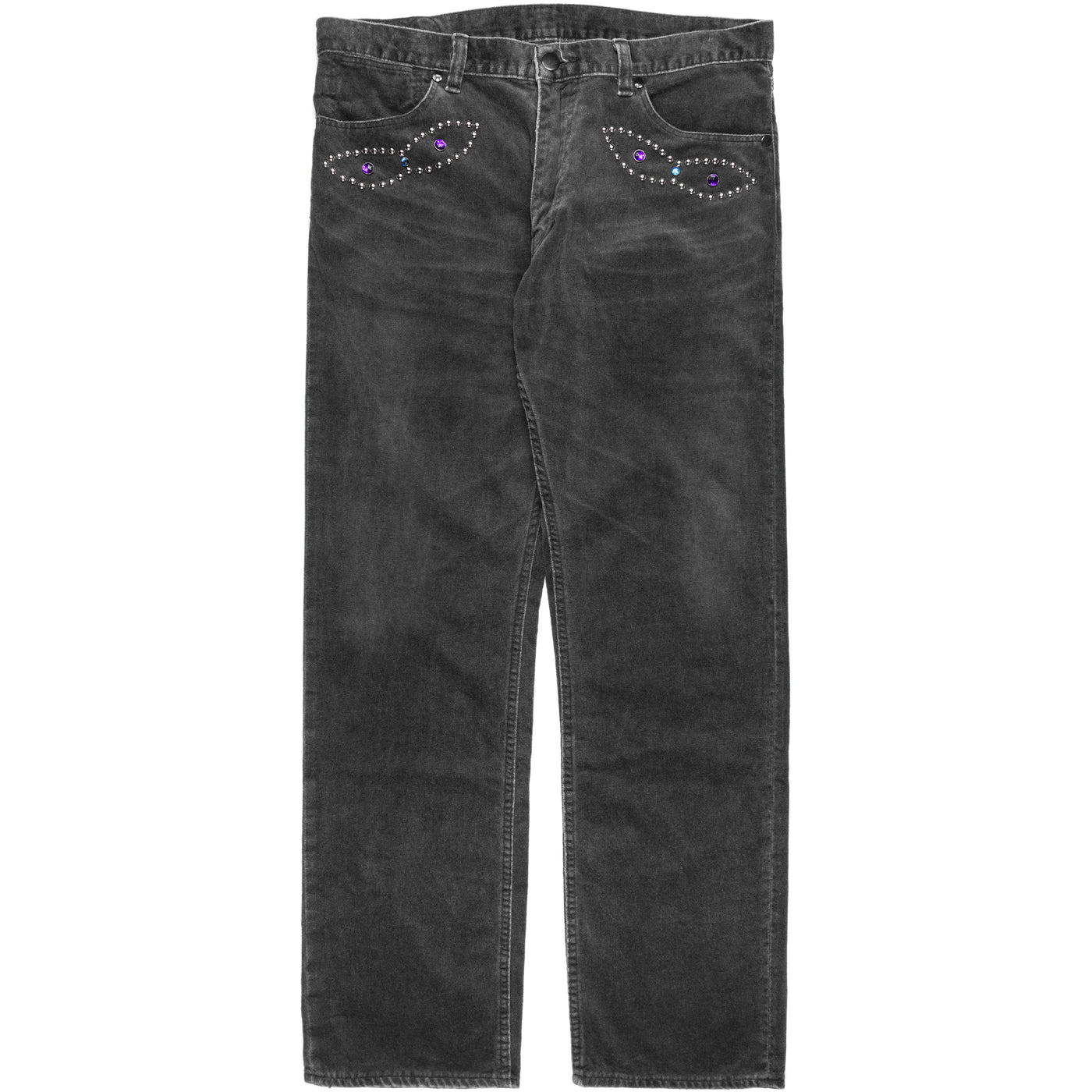 Number (N)ine Studded Velour Denim - SS/AW03