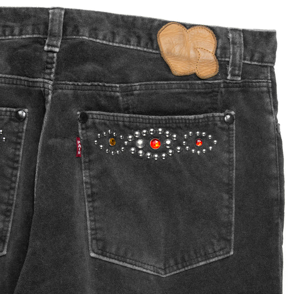 "Number (N)ine Studded Velour Denim - SS/AW03 ""Touch Me I'm Sick"""