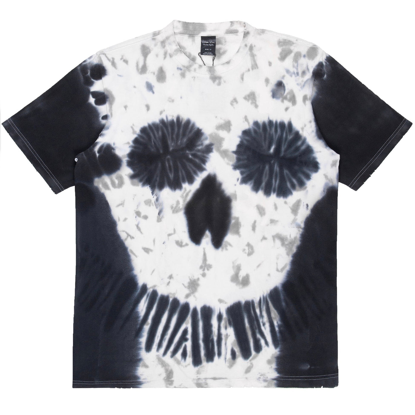 "Number (N)ine Tie Dye Skull Tee - SS06 ""Welcome to the Shadow"