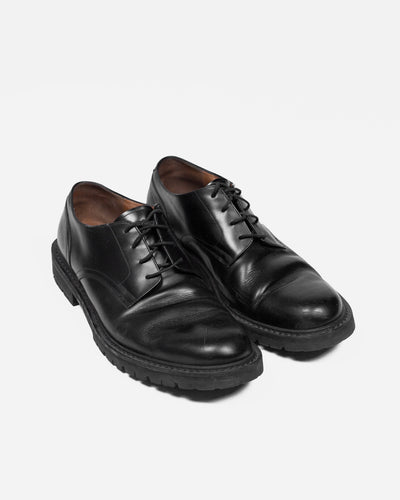Dries Van Noten Black Leather Derby's