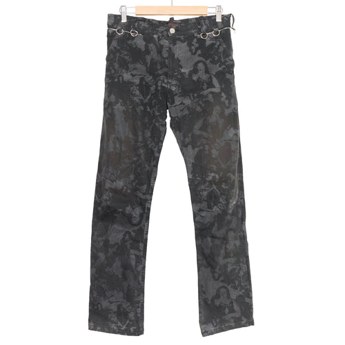Undercover Black Camo Cargo Trousers - SS03