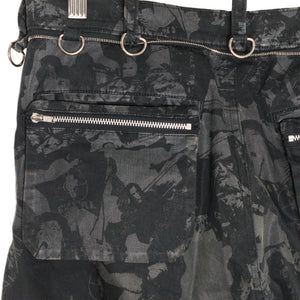 "Undercover Black Camo Cargo Trousers - SS03 ""Scab"""