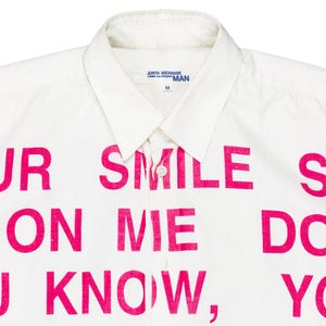 "Junya Watanabe ""Smile"" Poem Button Up - SS02"