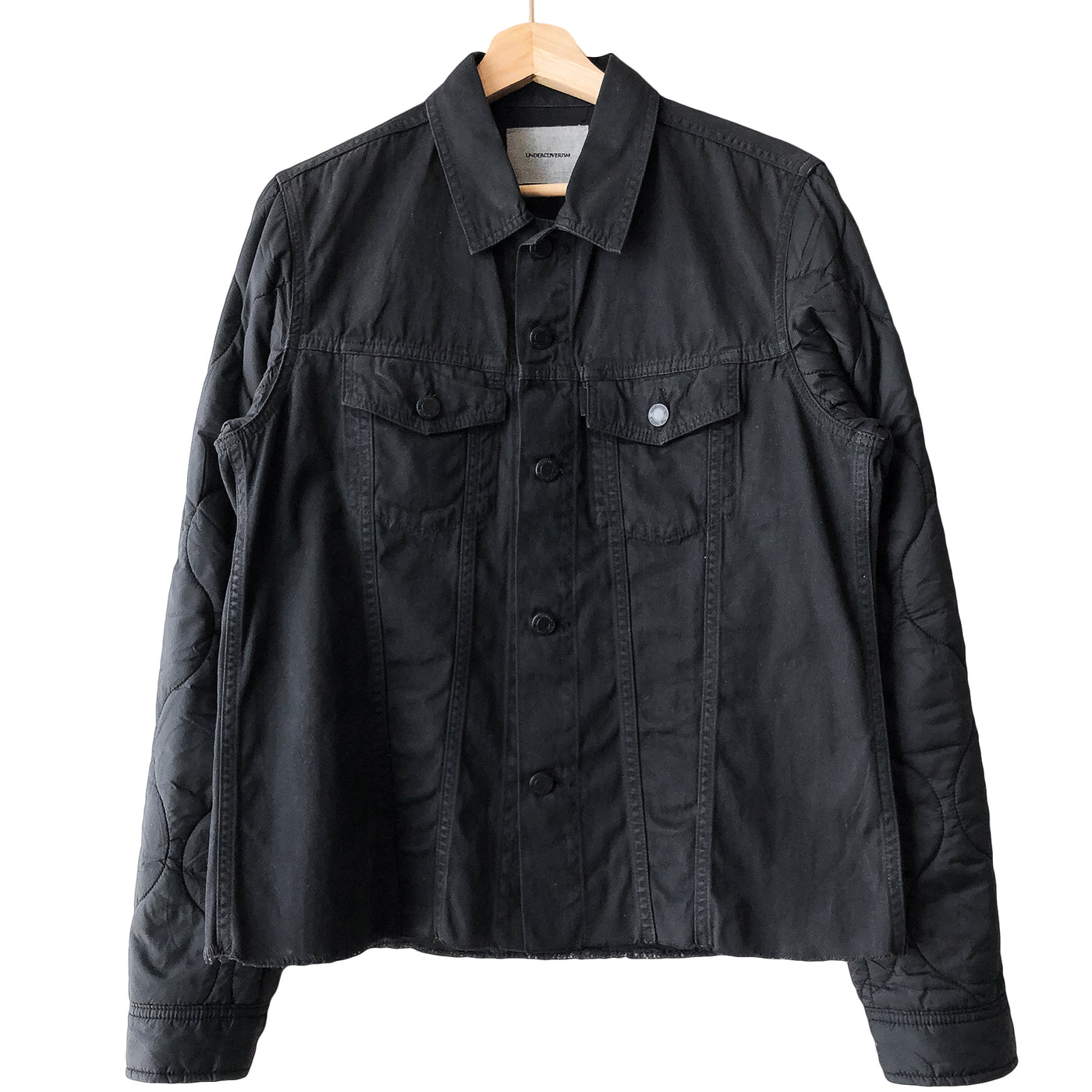Undercover Undercoverism Nylon Quilted Denim Hybrid Trucker Jacket - AW13