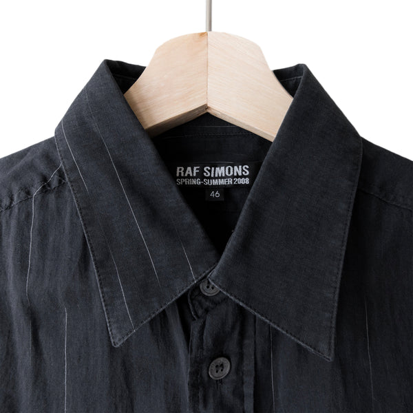 Raf Simons Fading Pinstripe Button Up Shirt - SS08