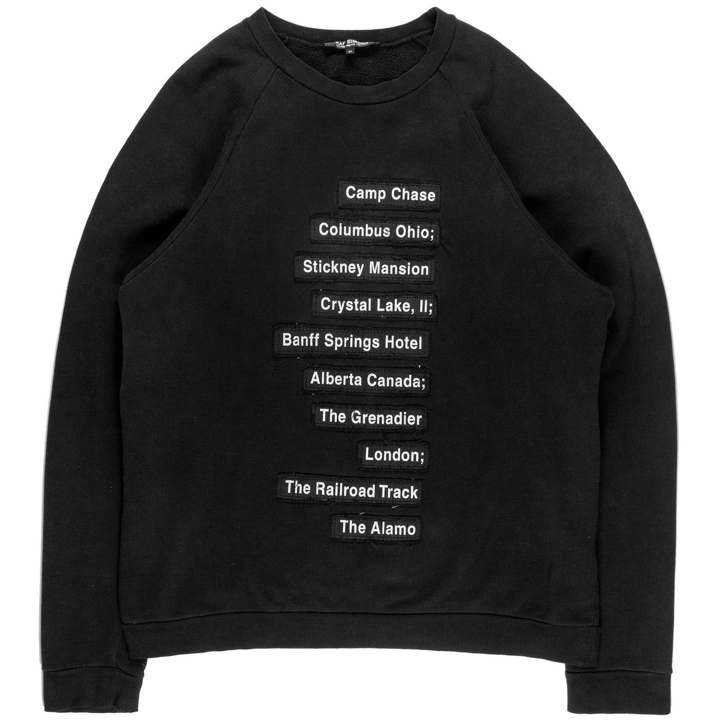 "Raf Simons Haunted Places Raglan Sweater - AW05 ""History Of My World"""
