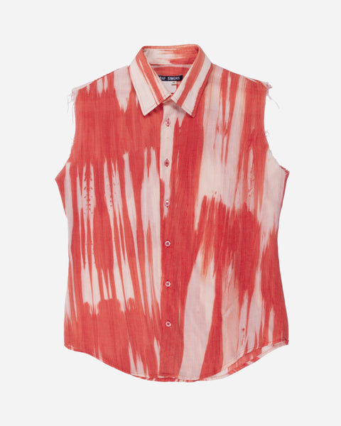 "Raf Simons Sheer Sleeveless Shirt - SS97 ""How to Talk to Your Teen"""