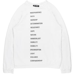 "Raf Simons ""Independence"" Patched Sweatshirt - SS02"