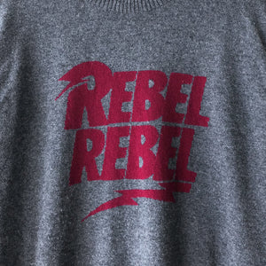 "Undercover David Bowie Rebel Rebel Crewneck Sweater - AW15 ""No (B)orders"""