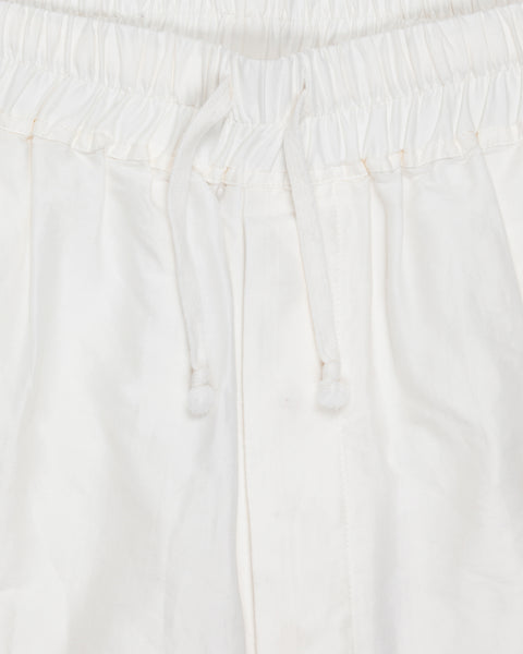 "Rick Owens White Silk-Cotton Shorts - SS14 ""Vicious"""