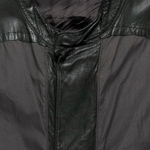 Rick Owens DRKSHDW Leather Panelled Cafe Racer Jacket