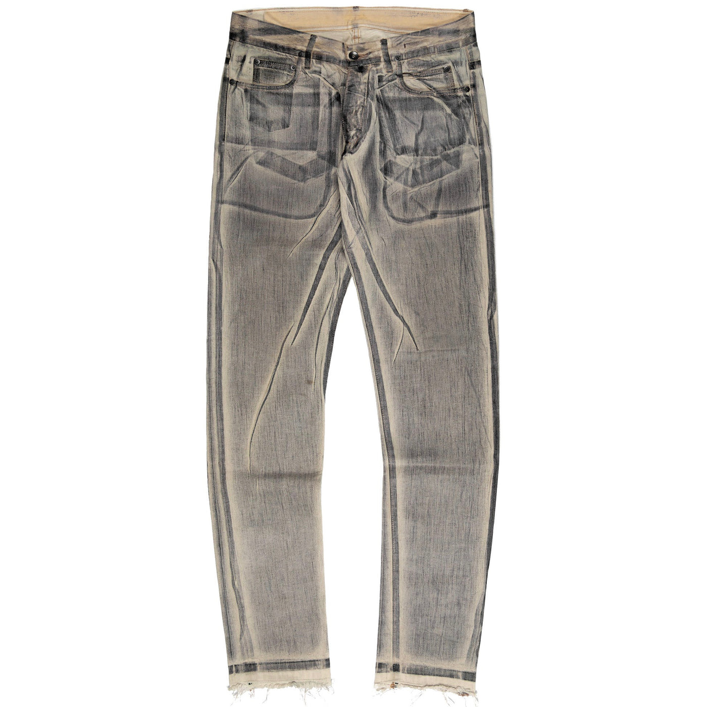 Rick Owens Sand Waxed Denim Jeans - SS10