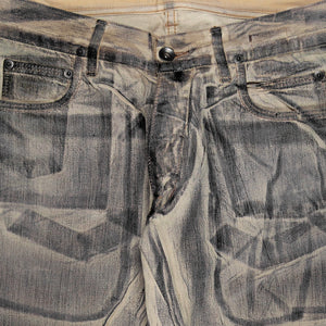 "Rick Owens Sand Waxed Denim Jeans - SS10 ""Release"""