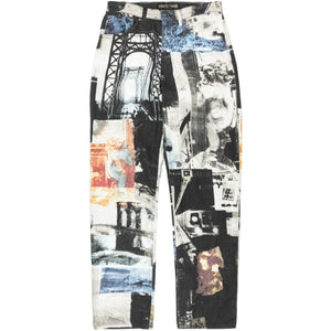 Roberto Cavali Collage Portrait Printed Denim