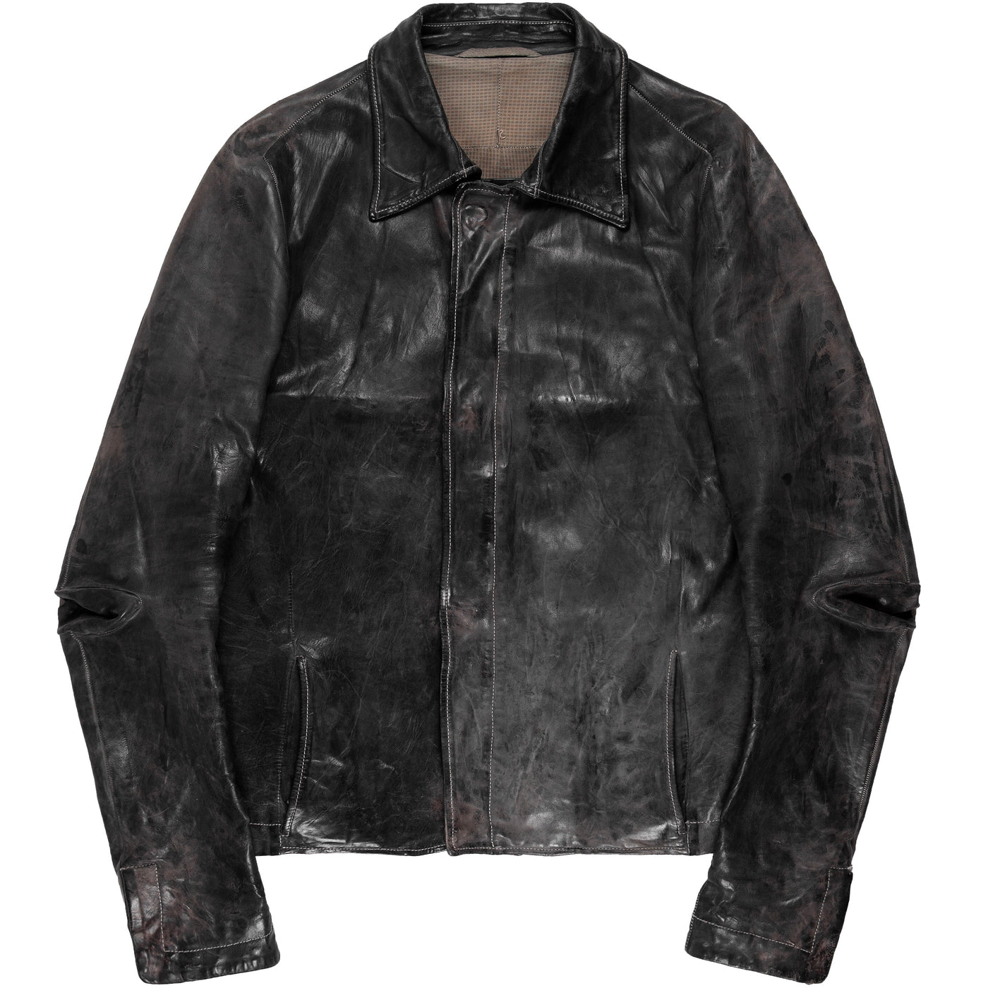 "Carol Christian Poell Heavy Calf Leather Jacket  LM/2398 VIT/PTC-29 - SS08 ""Off-Scene"""