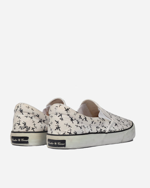 "Undercover Cross Print Slip-On Sneakers - AW02 ""Witches Cell Division"""
