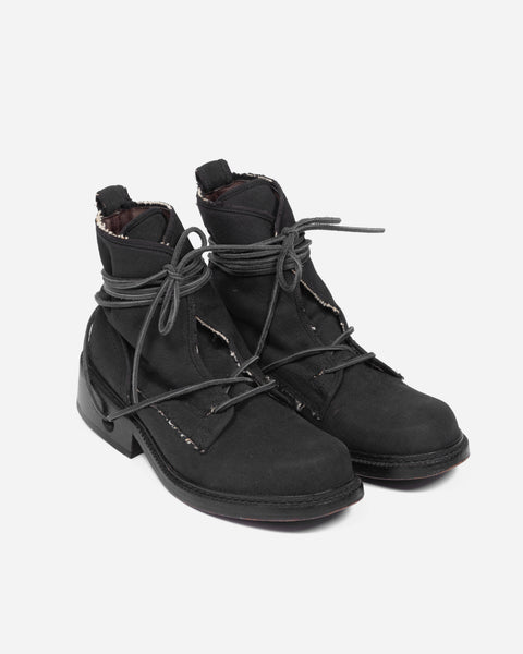 Dirk Bikkembergs Frayed Canvas Boot - 1990s