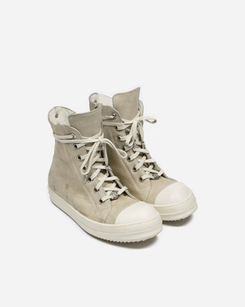 Rick Owens x Chrome Hearts Suede Ramones Sneakers