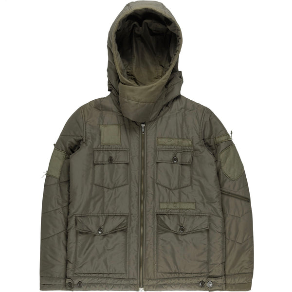 "Undercover Patched Olive Puffer Jacket - AW05 ""Arts And Crafts"""